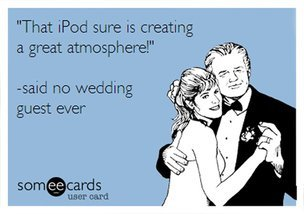 What you need to know before you consider using an iPod for your wedding.