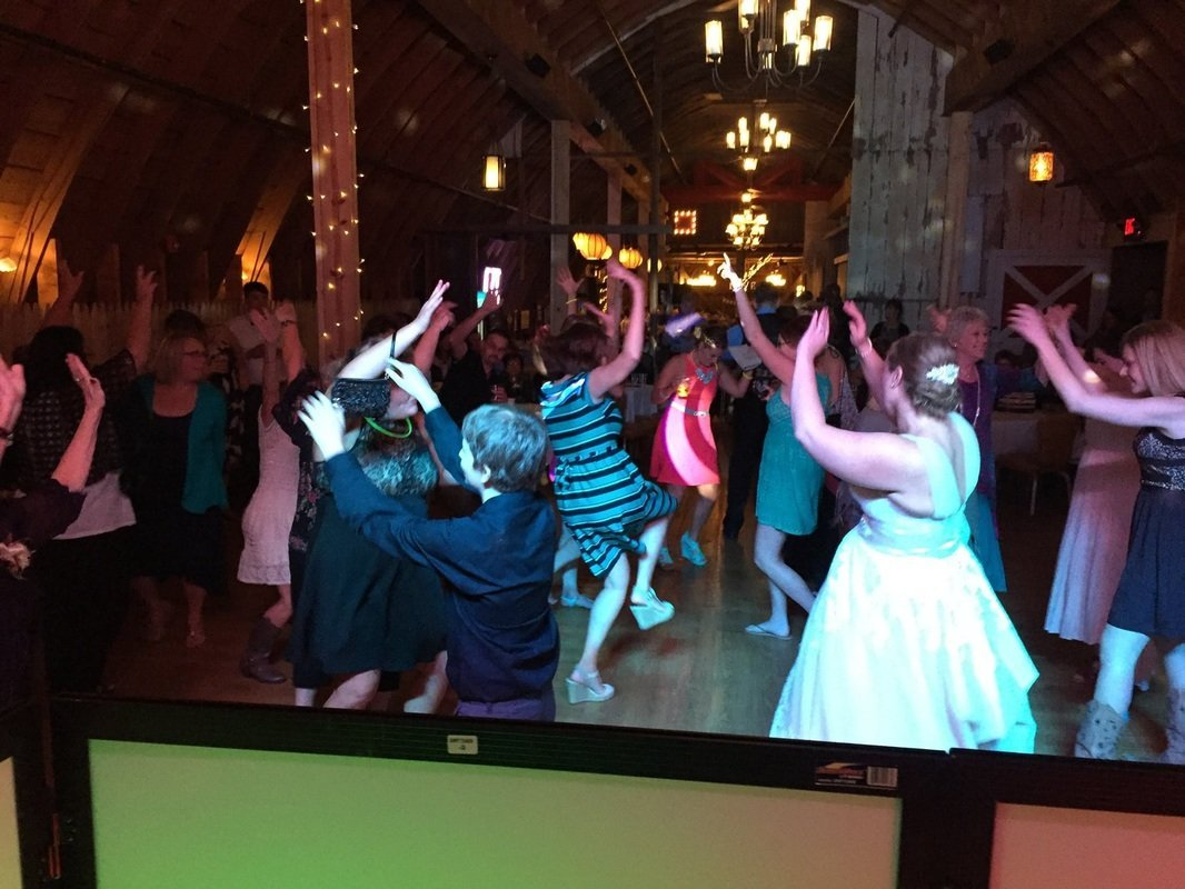 SoundFire DJ performing a Wedding Dance at Tryba's Simply Country Barn.